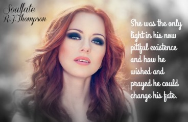 Outdoors portrait of beautiful woman with red hair and smoky eyes makeup